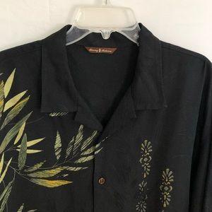 Tommy Bahama Hawaiian Shirt XL 100% Silk Bamboo